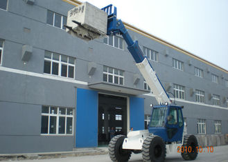China 4 wheel Stering Diesel 5 Ton Telescopic Boom Forklift With 10M Max Lifting Height supplier