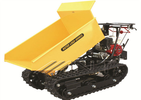 China Construction Mini Dumper Hire Powered Mechanical Wheelbarrow 400kg Capacity supplier
