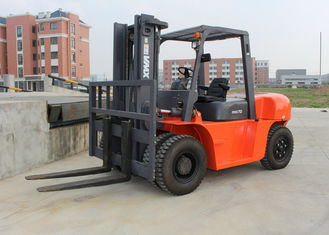 China 7 Tons Diesel Industrial Forklift Truck With 197MM Free Lift Height supplier