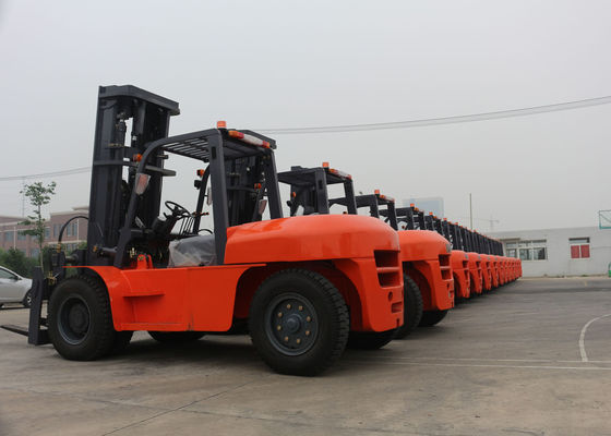 China Big Capacity 10 Tons Hydraulic Diesel Material Handling Forklift With Isuzu Engine supplier