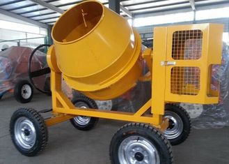 China 175L Mini Diesel Concrete Mixing Machine With Hydraulic Hopper , 13KW Diesel Engine supplier