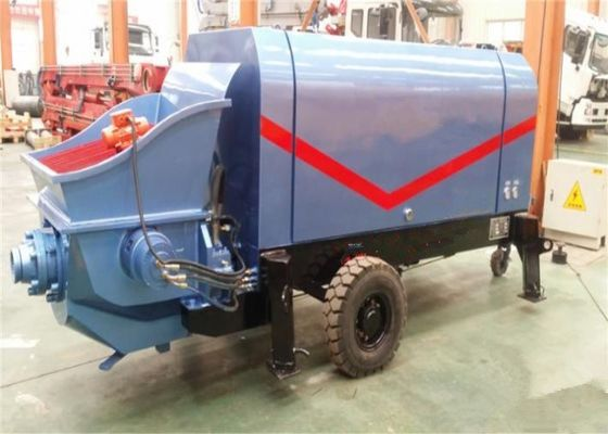 China Engineering Construction PLC concrete pumping machine , High Pressure pump concrete truck supplier