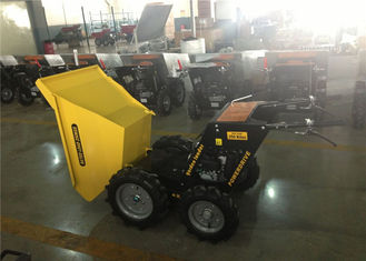 China Building Construction Mini Concrete Dumper / 250kg Loading Capacity Powered Mechanical Wheelbarrow supplier