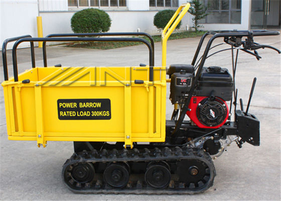 China Crawler Driven 0.3 Tons Gasoline Engine small dumper WITH Mechanical Transmission Case supplier