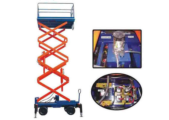 China 300KG Capacity Electric Hydraulic Mobile Scissor Lift 11M Lifting Height supplier