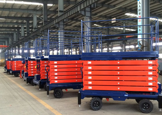 China CE Approved 11M Electric Portable Hydraulic Boom Lift , Man Lift For Aerial Work supplier