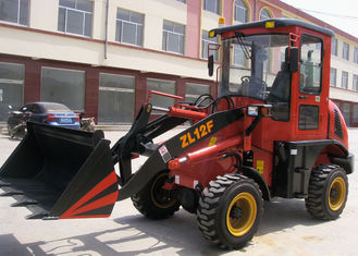 China Zl12F - E Euro III Engine articulated wheel loader machine 0.6m3 Bucket , 1.2t Rated Loading supplier