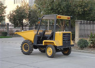 China Diesel Powered Wheelbarrow with Engine , 750L Skip Capacity Tracked Power Barrow factory