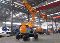 China 16 Meter 2WD Articulated Hydraulic Boom Lift With 230kgs Capacity 180 Return Platform factory
