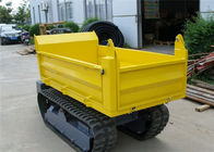 China Honda Gasoline Engine 1000kgs Tracked Concrete Dumper For Site Works CE / SGS / ISO factory