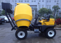 China 450L Mixing Capacity Diesel Self Loading Mobile Concrete Mixer  With Yanmar Engine Hydraulic Wheel System factory