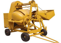 China 250L Mini Diesel Concrete Mixing Machine With Hydraulic Hopper 13KW Diesel Engine factory