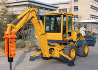 China Small Hydraulic Backhoe Loader With Hammer Double Pumps Confluence 50KW Power WZ25-20 company
