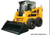 China Enclosed Operator Cab Skid Steer for Rent , 4 in 1 bucket Skid Steer Track Loaders factory