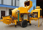 30m3 / H Mobile Concrete Mixer With Pump And 600 L Hopper Capacity