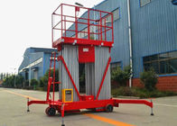 200KG 6M Lifting Height Hydraulic Boom Lift Double mast Aluminium