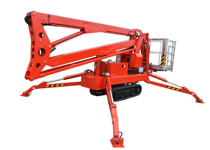 Construction Boom Lift Hydraulic : Wired remote control hydraulic boom lift high strength