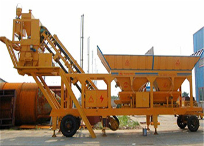 Four Hopper Concrete Mixer Machine 35 M3 H Mobile
