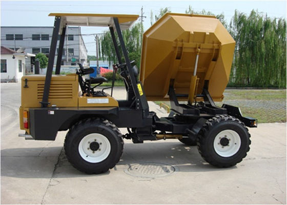 China 180 Return 4WD Diesel Mini Concrete Dumper With 4.5m Turning Radius Hydraulic Tipping Hopper distributor