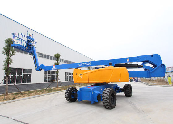 China Cummins Engine Elevated Work Platform , Safe 4WD Electric Bucket Lift distributor