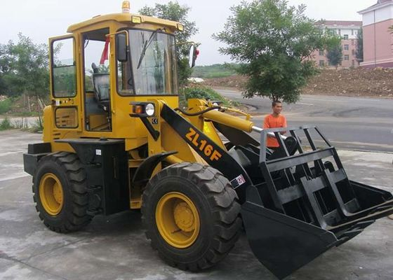 China 4WD Mini ZL16F Front End Wheel Loader with 1.6 Ton Capacity 0.8 CBM Rated Bucket distributor