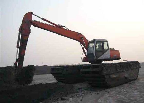 China Big Torque Travelling Heavy Equipment Excavator with Tracked Pontoon Structure factory