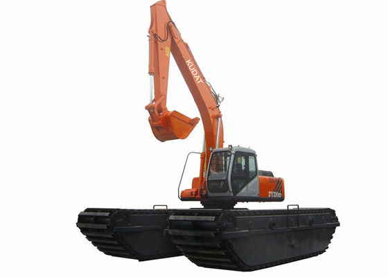 China Turbocharged ISUZU Engine Amphibious Excavator Rental for Swamp / Soft Areas factory
