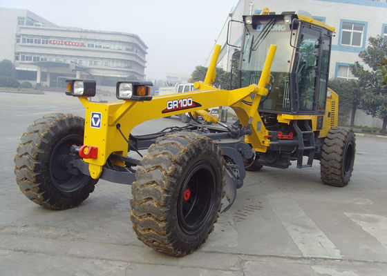 China Ground Leveling Earthmoving Motor Grader Machine GR100 With 350KPa Tire Inflation Pressure distributor
