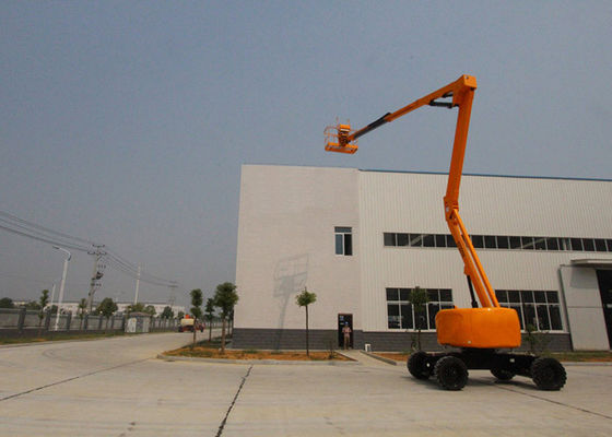 China 2 Wheel Drive Hydraulic Boom Lift 19.7M Working Height 360° continuous Turntable Swing distributor