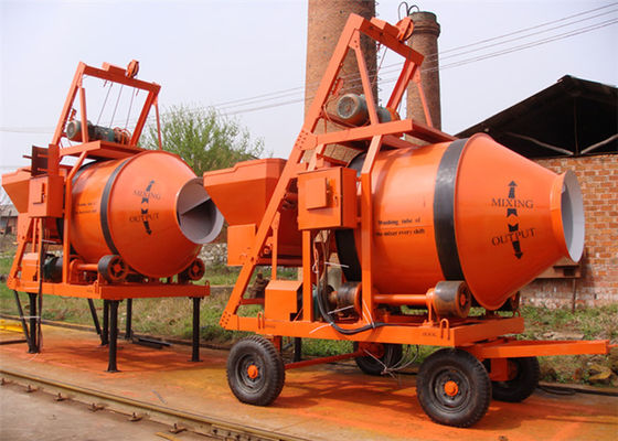 China Mobile Reverses Discharging Portable Electric Cement Mixer 750L Volume Low Noise distributor