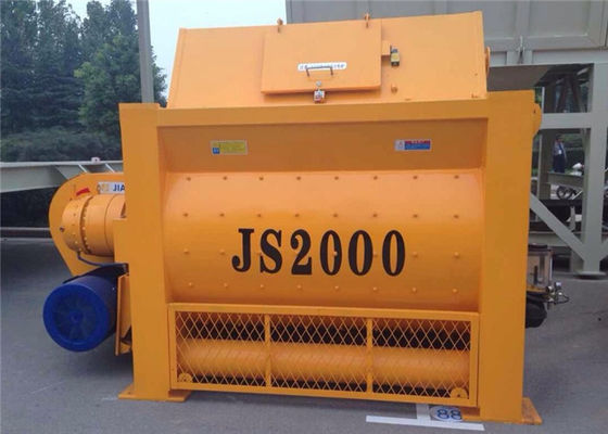 China 2000L Twin Shaft Forced Concrete Mixer Machine  With 3200L Loading Capacity 100 M3 / H Capacity distributor