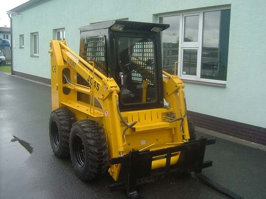 China Hydraulic Electric Skid Steer Loader , 20 ° Grade Ability Skid Steer Track Loader factory