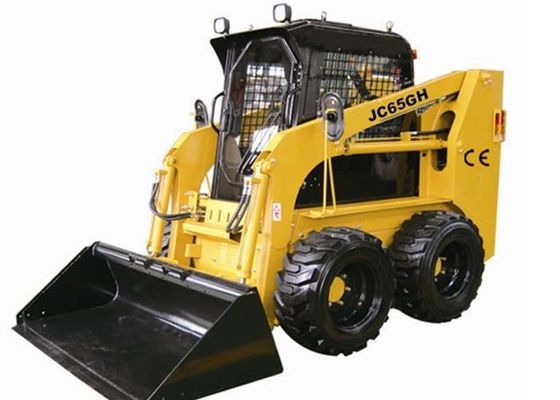 China Mechanical Type Track Skid Loader , Auxiliary Hydraulic Couplers Skid Loader Rentals factory