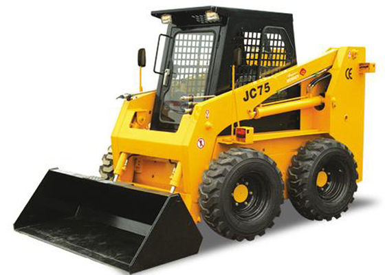 China 3.1 Meters Work Arm Bobcat Track Skid Steer Loader Water Colled 75HP Engine Power factory