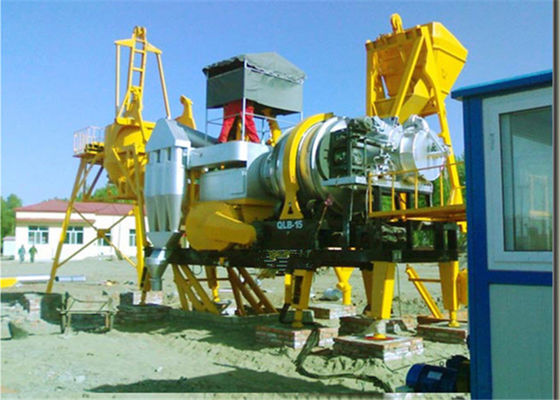China Drying Drum Horizontal Twin Shaft  Asphalt Mixing Plant , 15TPH Concrete Batching Plant factory