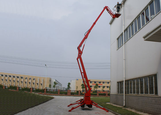 China ISO / CE 53M Crawler Telescopic Upright Boom Lifts With 350KG Loading Capacity distributor