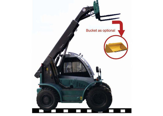China 6M Max Lifting Height Telescopic Boom Forklift for Goods Transportation / Engineering Building distributor