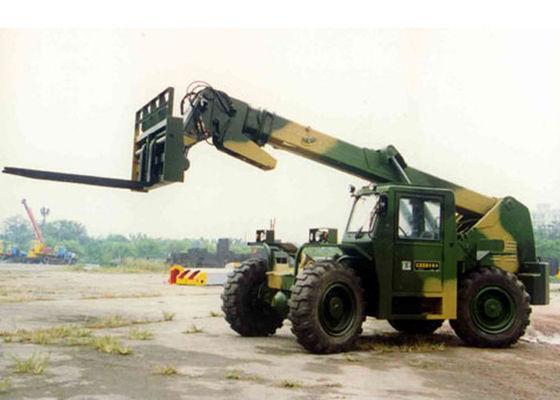 China Rear Wheel Steering Telescopic Reach Forklift , Hydraulic Brake Boom Lift Truck Rental distributor