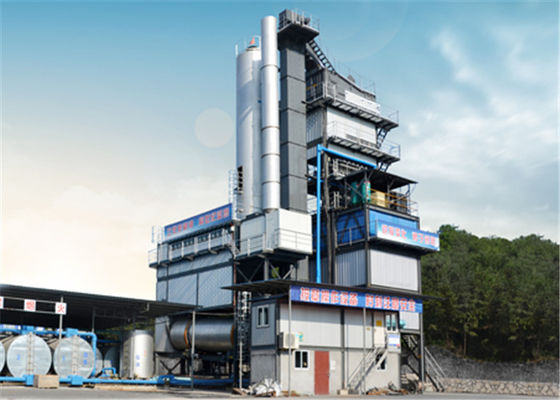 China 436KW Electric Power Asphalt Mixing Plant With 200tons Finished Storage Bin factory