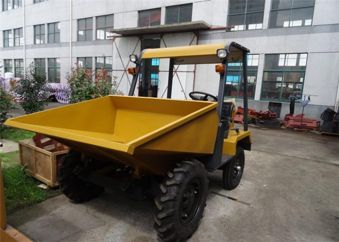 Wheel 2WD 1.5 tons Tracked Wheelbarrow Hire , Hydraulic Concrete Four Wheel Barrow