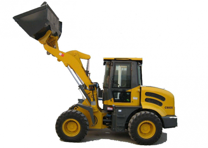2T Load Weight Hydraulic Wheel Loader with Power Shift and Electric Shift Optional Transmission
