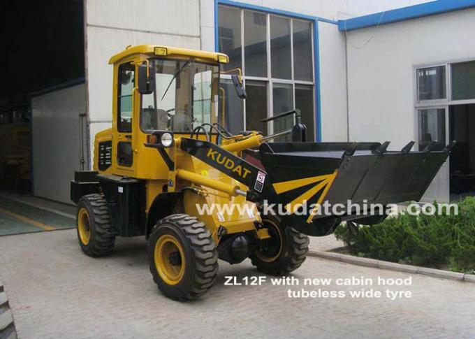 0.6 CBM Rated Bucket Front End Wheel Loader , 37KW Rated Power Four Wheel Loader