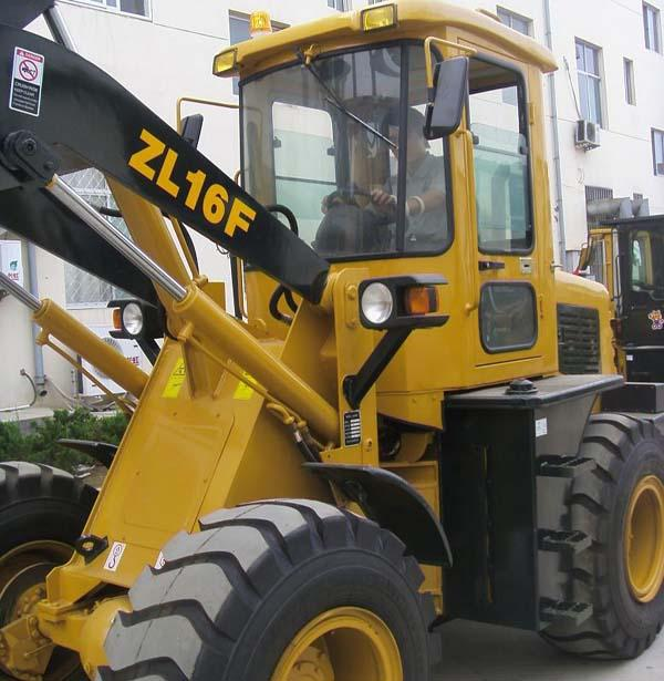4WD Mini ZL16F Front End Wheel Loader with 1.6 Ton Capacity 0.8 CBM Rated Bucket