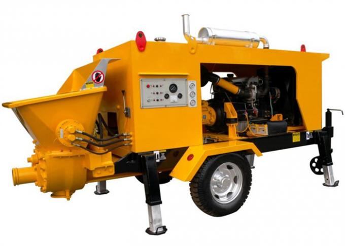 80m3/h 175KW Diesel Engine Hydraulic Concrete Pump For Concrete Pumping Works