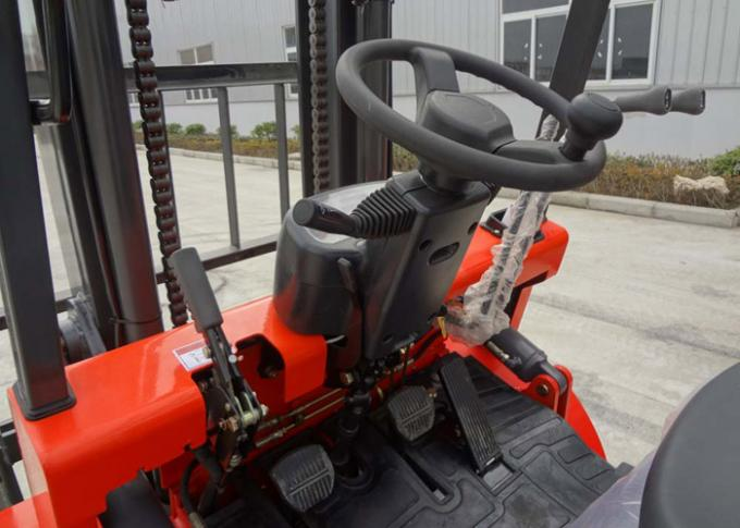 Balance Weight Type Diesel Manual Forklift Truck With Triple Mast And Sideshift