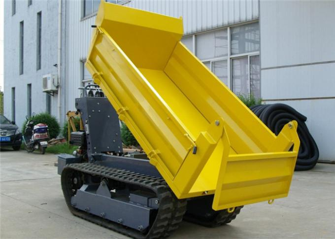 1 tons Crawler Mini Tracked  Dumper With Hydraulic Pump Stepless Speed Changes
