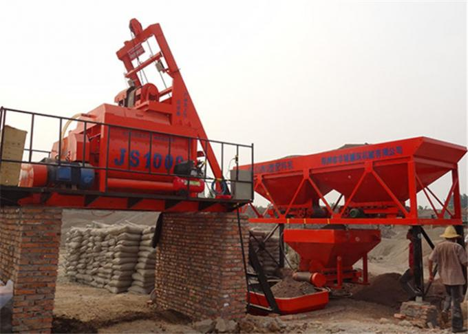 Electric Motor Double Shaft Concrete Mixing Equipment  1000L For Industrial  Concrete Projects