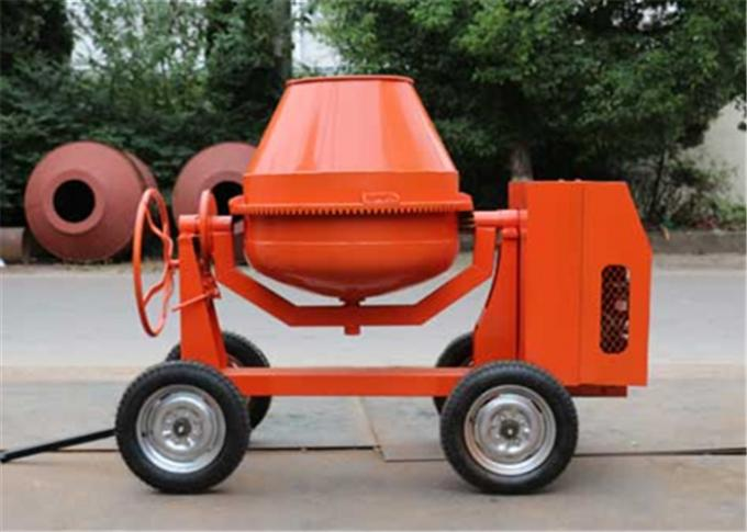 250L Mini Diesel Concrete Mixing Machine With Hydraulic Hopper 13KW Diesel Engine
