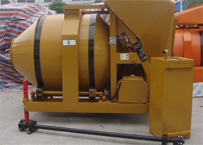 500L Diesel Engine Mobile Concrete Mixer Machine With Mechanic Transmission And Hydraulic Tipping system