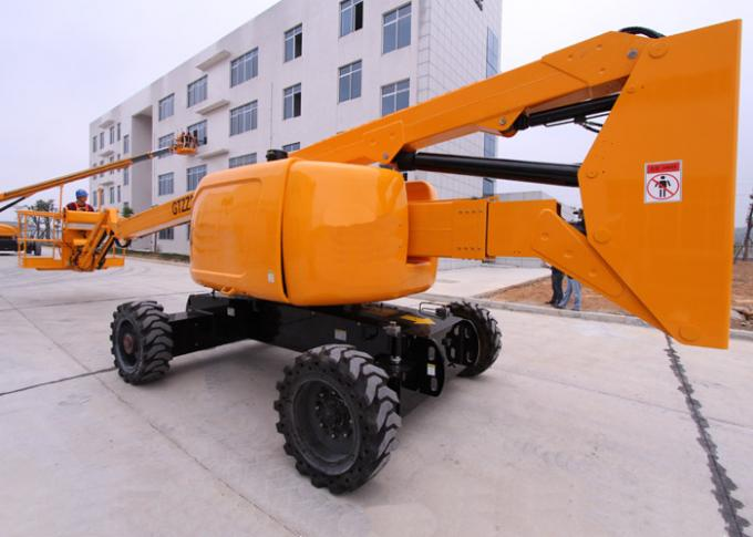 Hydraulic 20M Articulated Boom Cherry Picker Lift With Cummins Engine 180° Platform Rotation
